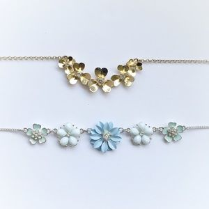 Dainty Floral Statement Necklace Bundle